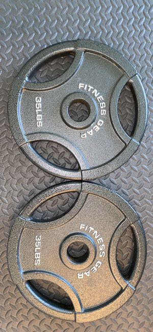 Pair of 35 lb Olympic Weight Plates for Sale in Burke, VA