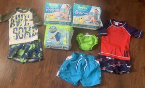 Swim pampers size small & swimwear for boys for Sale in Sandy Springs, GA