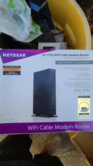 Netgear ac1750 wifi cable modem router 802.11 ac dual band gigabit for Sale in ROWLAND HGHTS, CA