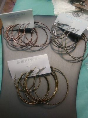 New 9pairs assorted hoops for Sale in Yonkers, NY