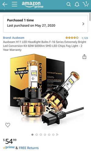 Auxbeam H11 led headlights for Sale in Miami, FL