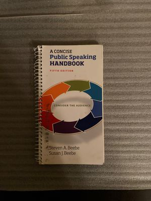 A Concise Public Speaking Handbook for Sale in Elk Grove, CA