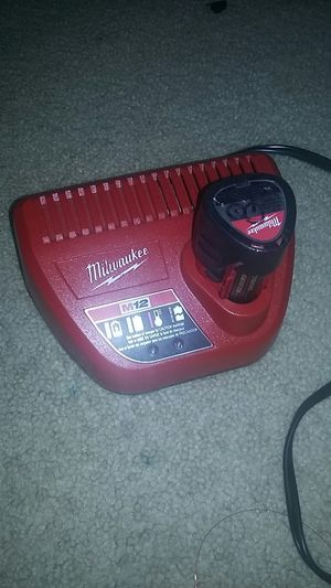 Milwaukee battery and charger (extra) for Sale in Akron, OH