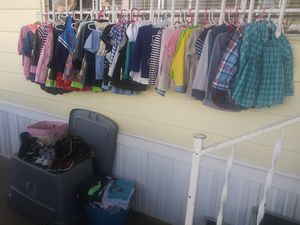 Kids used a few new clothing n shoes sizes 2 to 4 . 1 to 2 dollars each for Sale in El Cajon, CA