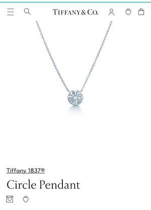 Tiffany & Co. Tiffany 1837 Diamond Circle Pendant for Sale in Burke, VA