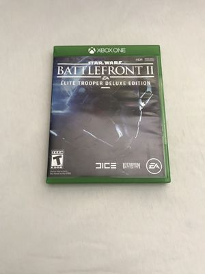 Xbox One Game:Star Wars Battlefront II Elite Trooper Deluxe Edition Disc Like New for Sale in Reedley, CA