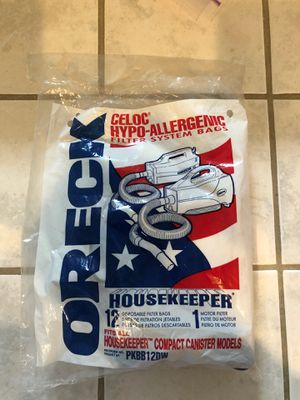 Oreck vacuum bags (2) for Sale in Santa Maria, CA