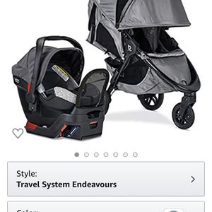 Britax B-Free Sport Travel System with B-Safe Endeavors Infant Car Seat   All Terrain Tires + Adjustable Handlebar + Extra Storage with Front Access + for Sale in Whittier, CA