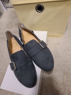 Belted Suede Loafers In Blue Size 7 for Sale in Alexandria,  VA