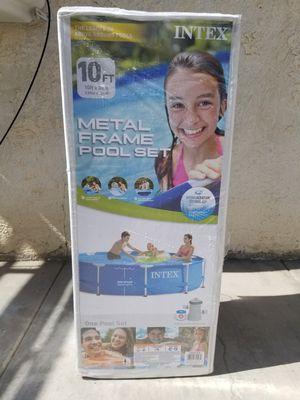With Pump - 10 x 30 Intex Metal Frame Pool Set - Please read below for Sale in Fontana, CA