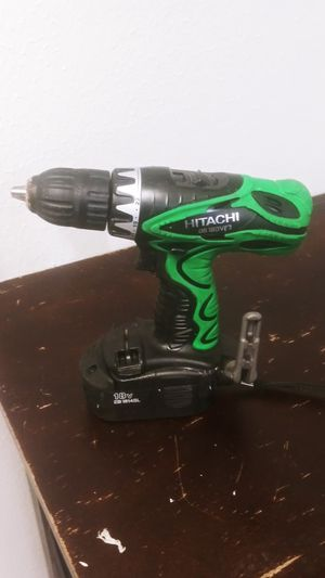 18v 1/2 inch Hitachi Drill Driver, 2 batteries, 1 charging station 75obo for Sale in Noblesville, IN