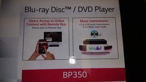 LG WIRELESS STREAMING BLU-RAY DISC PLAYER for Sale in Arlington, VA