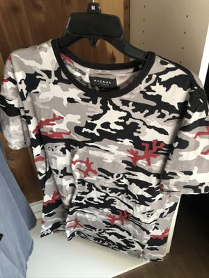 PacSun Camo Camouflage T-Shirt Size Medium! Grey, black, red for Sale in San Jose, CA