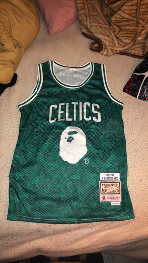 Bape celtics jersey never worn for Sale in Stockton, CA