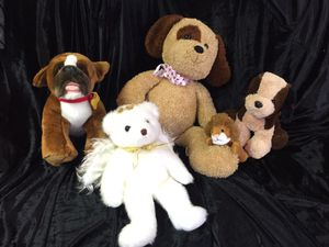 5 various stuffed animals for Sale in Easley, SC