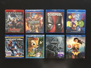 Lot of 8 Blu-Ray movies for Sale in HUNTINGTN BCH, CA