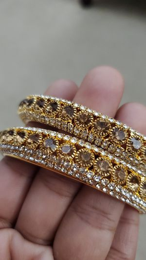 Gold plated diamond cut indian bangles for Sale in Roswell, GA