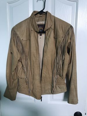 Women's Leather Jacket with fringe for Sale in Camas, WA