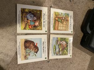 Lot of 4 children's books 1991 My little Book about Miss Moppet Pigling Bland Mr. Jeremy Fisher Ginger & Pickles kids book vintage for Sale in Buena Park, CA