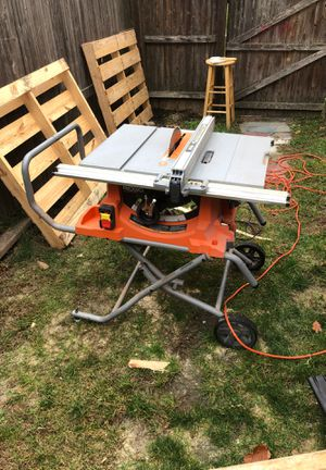 Rigid 10 heavy duty table saw with stand for Sale in Verona, NJ