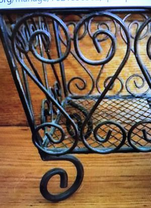 Wire/metal scroll magazine rack for Sale in Reading, MA