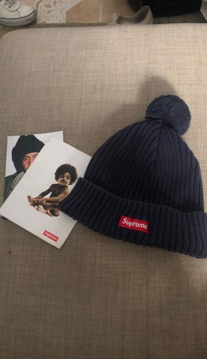 Supreme F/W small box logo Pom beanie from years ago, biggie nas stickers for Sale in Fullerton, CA