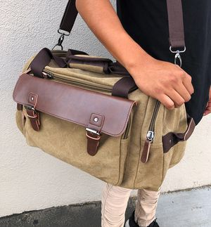 "$20 NEW Mens Vintage Travel Duffel Bag Hand Gym Sports Shoulder Strap Backpack 18x9x11"" for Sale in Pico Rivera, CA"