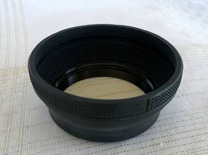 55mm Collapsible Rubber Lens Hood, Made in Japan for Sale in Renton, WA
