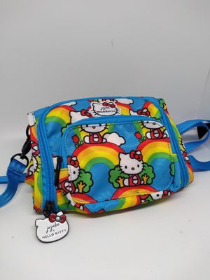 JuJuBe x Hello Kitty Mini BFF Kids Backpack | Multi-Functional Convertible + Messenger Bag | Travel Friendly, Stylish Backpack | Hello Rainbow for Sale in Bloomington, CA