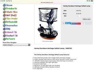 Harley Davidson lamp for Sale in Jackson, NJ