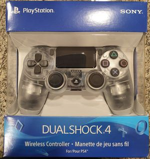 Dual Shock PlayStation 4 Controller Clear for Sale in SUNNY ISL BCH, FL