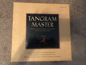 Tangram Master 200 Puzzles for 4 Players (Sterling Published Edition)-Retired VERY Hard to find-Games/Brain Teasers/Challenging/Geometric Gaming for Sale in Tinley Park, IL