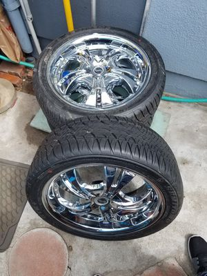 Rims and tires, full set 17 inch 215/45zR17 for Sale in Santa Monica, CA