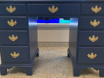 Conant Ball Blue Refinished Wood Desk for Sale in Philadelphia,  PA