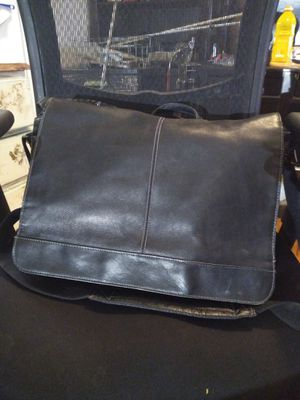 MENS ALL LEATHER BLACK MESSAGE BAG for Sale in Post Falls, ID