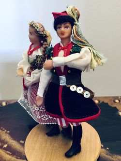 Vintage Spoldzielnia Pracy R.L.i.A. -Polish Folk Dancers- Hand Made Cepelia for Sale in Cuyahoga Heights,  OH