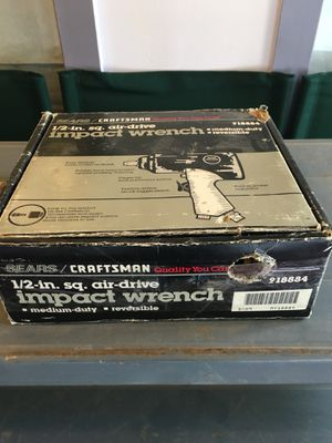 Sears Craftsman Impact Wrench 1/2-in. sq. Air Drive for Sale in Seattle, WA