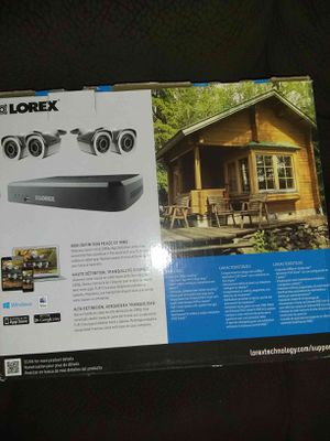 High definition Lorex security system with 4 cameras for Sale in Riverside, CA