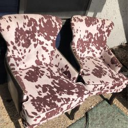 2 CowHide Arm Chairs for Sale in Waco,  TX