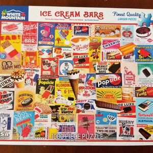 White Mountain Ice Cream Bars Puzzle 1000 Piece *Like New* for Sale in West Palm Beach, FL
