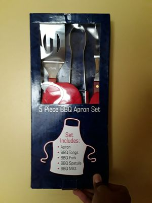 Barbecue! 5Piece Bbq Apron and Utensils for Sale in Chicago, IL