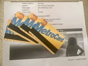 (4) 12 rides in each, METRO CARDS for Sale in Elmont, NY