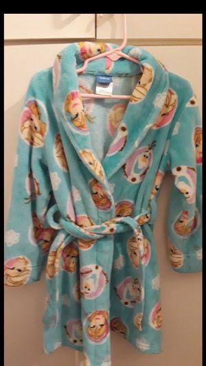 Disney Frozen Elsa Olaf fleece bathrobe. Like new! Size 4/5 t for Sale in Largo, FL