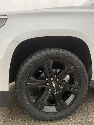 "New 22"" Black Chevy / GMC Rims and New Tires 22 Chevrolet Wheels 22s Rines y Llantas Oem factory's factory original Take offs off takeoffs pull pullo for Sale in Dallas, TX"