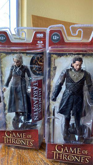 "McFarlane Game Of Thrones Targaryen & Snow 6"" action figures - New! for Sale in El Paso, TX"