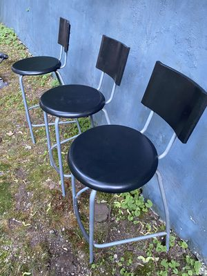 Bar stool with backrest, black, silver for Sale in Teaneck, NJ