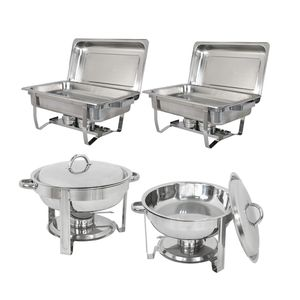 2 Pack 8 Quart AND 5 Quart Chafing Dish Stainless Steel Tray Buffet Catering Chafers for Sale in Wildomar, CA