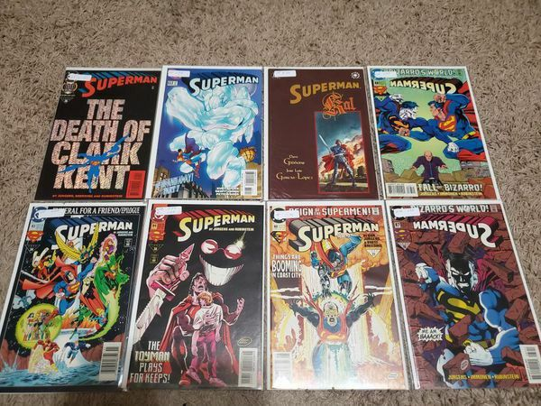 SIGNED! Superman, Superboy, and Supergirl Full Shortbox of Comics | Trade Paerbacks | Hard Cover