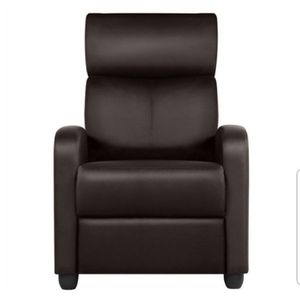 Yaheetech PU Leather Recliner Chair, with Lumbar Support Overstuffed High-Density Sponge Manual Push Yaheetech Model:610886 for Sale in Marietta, GA
