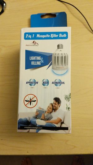 2 in 1 mosquito killing bulb for Sale in Hyattsville, MD